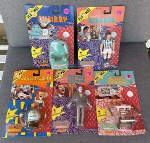 5 Figure Lot 1988 Matchbox Pee Wee Herman Pee Wee's Playhouse Sealed NIP Chairry
