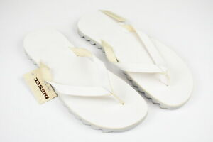 RRP €120 DIESEL NODOMMA SUNSSAND UK 9.5 EU 44 Leather Flip Flops Slippers 17195_