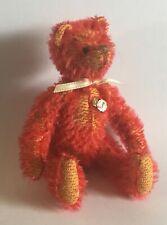 More details for hermann teddy original miniature red mohair bear - 11cm