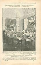 Nicolas II & l'Impératrice de Russie à l'Académie Française GRAVURE PRINT 1897