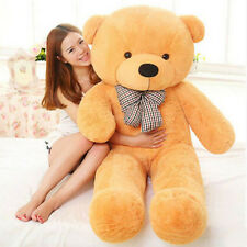Giant Stuffed Plush Teddy Bear Toy Animal Doll Light Brown XMAS Lover Gift 80cm