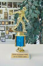 """HORSESHOE PITCHER PITCHING TROPHY 8 1/2""""  FREE LETTERING MALE FEMALE YOUR COLOR"""