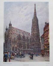 Stefansdom Stephansdom Wien von Ernst Graner - Farbdruck aus 1948 Kunstdruck