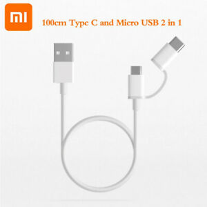 2 In 1 Cable Type C Micro USB Cable Quick Charge Sync Data Line for Xiaomi