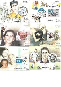 ESPAÑA 2000 HOJAS BLOQUE EXPOSICION MUNDIAL  - 3756 al 3766