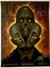 Tool band signed poster pittsburgh 2019 concert tour chet zar