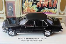 OPEL COMMODORE GS-E 1972 BLACK NEO 43689 1/43 NOIR SEDAN BERLINE SALOON SCHWARZ