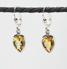 Ohrringe / Ohrhänger aus Silber 925  mit echtem Citrin / Sterlingsilber