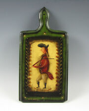 W.C. Wrede Folk Art Hand Painted Wood Cutting Board Peter Ompir