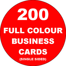 200 Full Colour Business Cards Printed on 350gsm Card