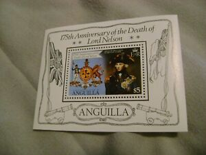 ANGUILLA-(-1981-)175 ANN. of DEATH of LORD NELSON-MINI SOUVENIR SHEET-MNH