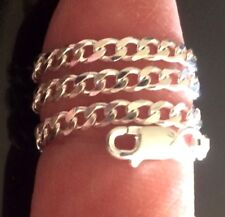 """3mm 7"""" to 18""""! $10.99~$17.99 Sterling Silver Anklet/Bracelet~925 Curb Italy 080"""