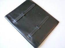 Couverture d'agenda vintage HERMES cuir noir (24955)