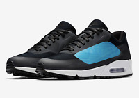 Nike Men's Air Max 90 NS GPX Running Shoes AJ7182 002 Black/Laser Blue Sizes