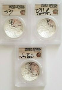 2020 P $1 Basketball Hall of Fame PCGS PR70DCAM FIRST STRIKE EWING, SHAQ, BIRD🏀