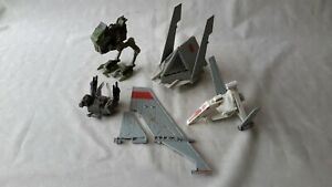 Hasbro Star Wars T-16 Skyhopper, AT-RT Walker Smuggler Back Pack POTF Lot