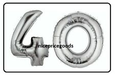 JUMBO 40 INCH FOIL NUMBER 40 40TH HELIUM BALLOON PARTY BIRTHDAYS BALLOONS EVENTS