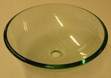 Clear Glass Round Basin 412mm diameter