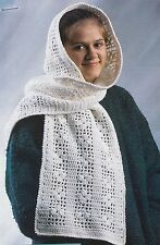COZY Cotton Hooded Scarf/Apparel/ Crochet Pattern INSTRUCTIONS ONLY