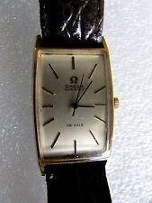 OMEGA DE VILLE MENS AUTOMATIC DRESS WATCH VINTAGE SQUARE LEATHER BAND - ESTATE