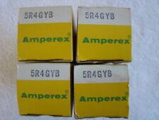 Matched Quad 4 NOS NIB Amperex 5R4GYB 5R4 Vacuum Tubes