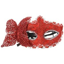 Red Butterfly decoration Sexy Women Venetian Hollow Masquerade Eye Face Mas M4Y9