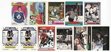 1971-72 OPC to 2000 UPPER DECK AUTOGRAPHED HOCKEY CARDS (11) WITH 3 HOF & 7 DEAD