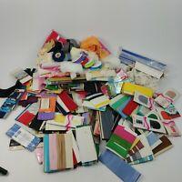 Huge Vintage Lot Sewing Supplies, Zippers, Elastic, Binding Lace, Bias Tape