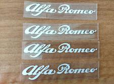 SET of 4pcs Alfa Romeo 80mm BRAKE CALIPER DECAL - CRISPY WHITE logo, emblem