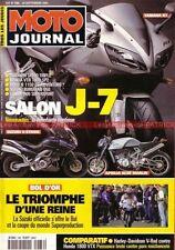 MOTO JOURNAL 1486 Essai Test HARLEY DAVIDSON 1130 V-Rod HONDA VTX 1800 YAMAHA R1