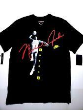 1e1c1e631b2 Nike Air Jordan Dunk Photo Signature T-Shirt Black AO0687-010 Mens SZ Large