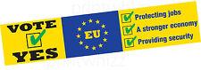 EU rimangono in Europa uscita brexit Auto Adesivo Finestra Porta Business Van Taxi