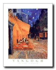 Vincent Van Gogh the Cafe Terrace At Night Art Print Poster (16x20)