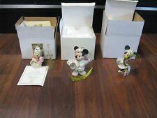2001 & 2003 Lenox Disney Christmas Ornaments Mickie , Minnie & Winnie The Pooh
