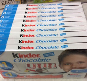 Kinder Chocolate Full Case 10 x 8 Bars (80 Bars Total) ONLY £10.49