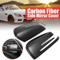 Carbon Fiber Style Door Mirror Cover For Mercedes Benz A B C E CLA GLA GLK Class