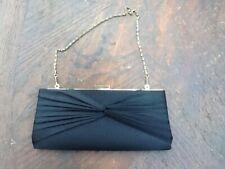 Ladies Black Satin Clutch Bag