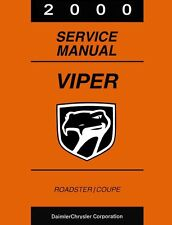 2000 Dodge Viper Shop Service Repair Manual Book Engine Drivetrain Electrical