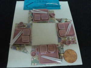 DOLLHOUSE DINNER SET- PINK- SQUARE