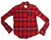 Abercrombie & Fitch Women's Shirt Red Check Long Sleeve Small Cotton
