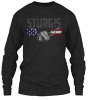 Sturgis Family Honors Veterans Gildan Long Sleeve Tee T-Shirt