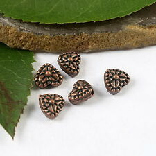 40pcs copper-tone studded heart spacer beads h1824
