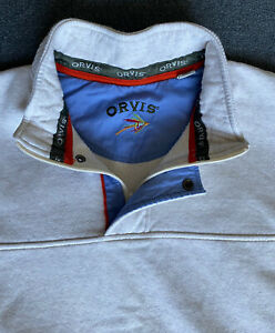 Excellent Used Condition Vintage ORVIS Fly Fishing XL PULLOVER JACKET Sweater