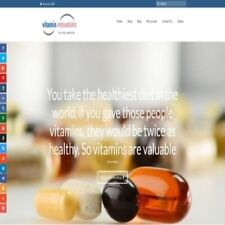 "Fully Stocked Dropshipping VITAMINS Website Store. ""300 Hits A Day"""