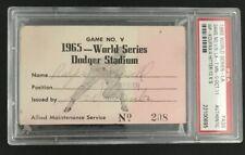 1965 Sandy Koufax World Series PSA Ticket Pass GM 5/Shutout/10k MVP Killebrew