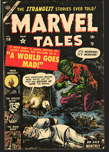 Marvel Tales #118 Hypo needle bondage skull cover Atlas 1953 pre-code horror