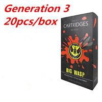 Original BIGWASP V3 Cartridge Needle 9 Single Stack Magnum (9M1) 20Pcs/Box