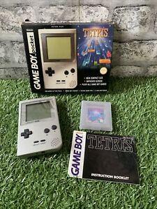 Nintendo Gameboy Pocket Tetris Edition Silver Boxed