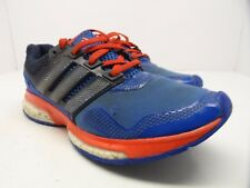 adidas Men's Response Boost 2 Techfit Running Shoe Blue/White/Bold Orange Size 6