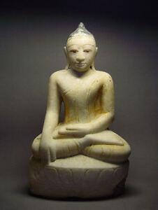 ANTIQUE BURMESE SHAN STATES MARBLE STATUE OF BUDDHA, MYANMAR, 19th C.